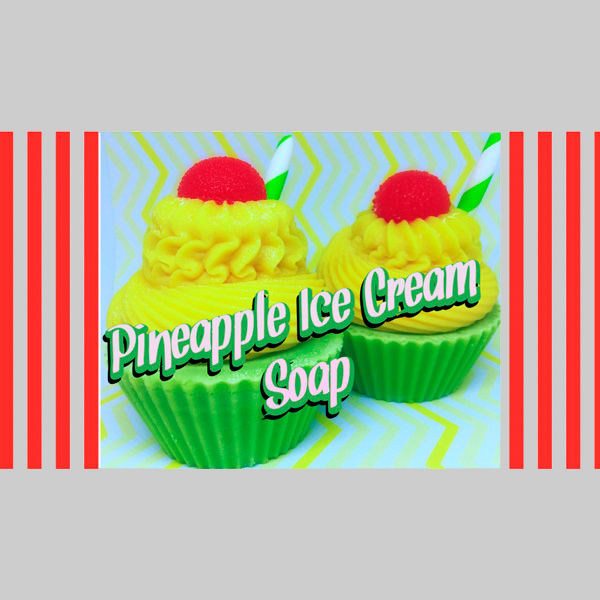 Pineapple Ice Cream Soap, handgemachte Seife, sara's soap