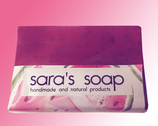 Watermelon, handgemachte Seife, sara's soap